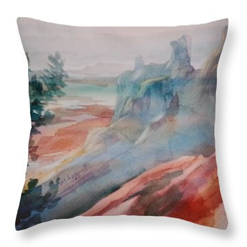 Mighty Canyon Throw Pillow by Becky Chappell