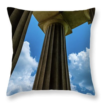 Mighty Columns  Throw Pillow