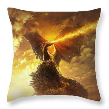 Mighty Dragon Throw Pillow