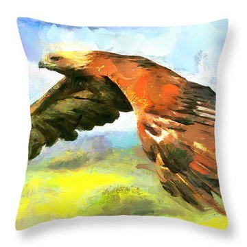 Mighty Eagle Throw Pillow
