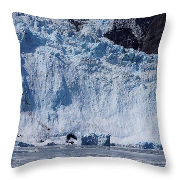 Mighty Holgate Glacier Throw Pillow by Jennifer White