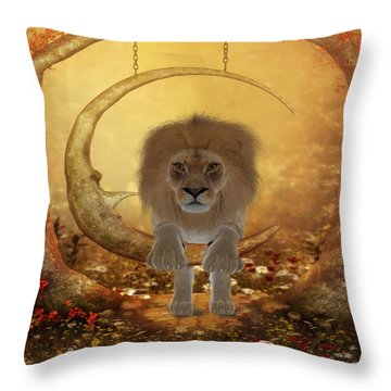 Mighty King  Throw Pillow
