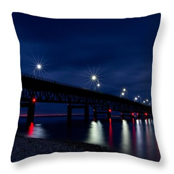 Throw Pillow featuring the photograph Mighty Mac 2 by Heather Kenward