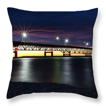 Throw Pillow featuring the photograph Mighty Mac 3 by Heather Kenward