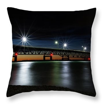 Throw Pillow featuring the photograph Mighty Mac 4 by Heather Kenward