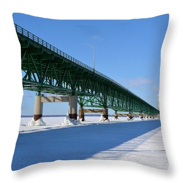 Mighty Mac On Ice Throw Pillow