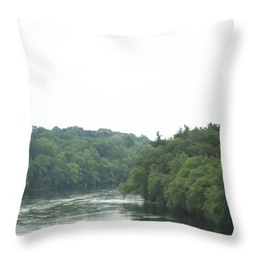 Mighty Merrimack River Throw Pillow
