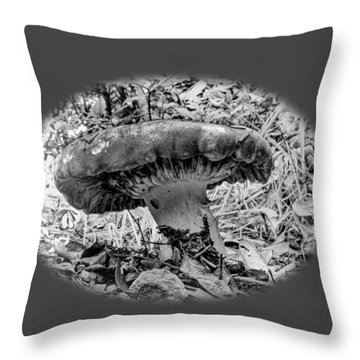 Mighty Mushroom T Shirt Style Throw Pillow