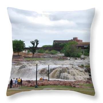 Mighty Sioux Falls Throw Pillow