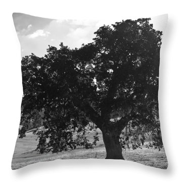 Mighty The Oak Throw Pillow