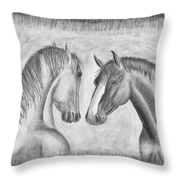 Mighty Vs Gentle Throw Pillow