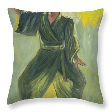 Mighty Woman Kick-butt Throw Pillow
