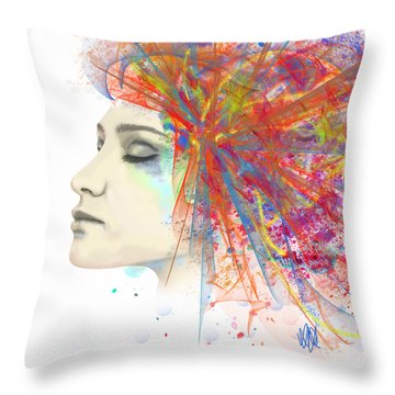 Migraine Throw Pillow by Angela A Stanton