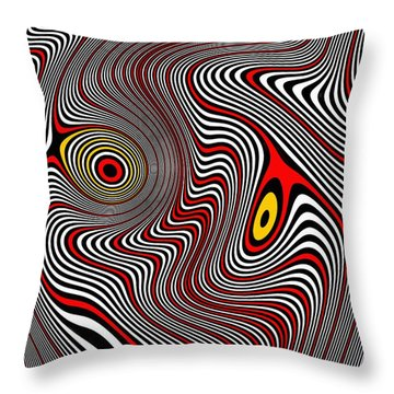 Migraine Aura Throw Pillow