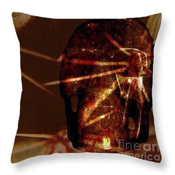 Migraine - The Pierced Skull Throw Pillow