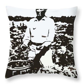 Migrant Farmer Throw Pillow