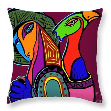 Migrating Bird Throw Pillow