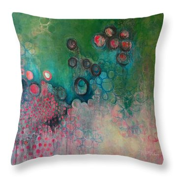 Throw Pillow featuring the painting Migration by Laurie Maves ART