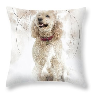 Mike And Millie 100 Throw Pillow by M K  Miller