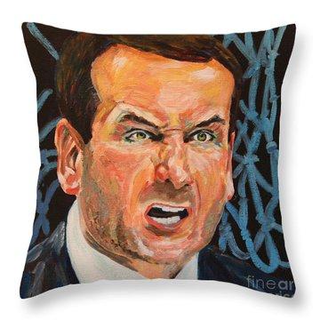 Mike Krzyzewski Aka Coach K Portrait Throw Pillow