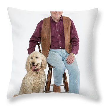 Mike Millie 01 Throw Pillow by M K  Miller