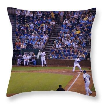 Mike Moustakas Throw Pillow