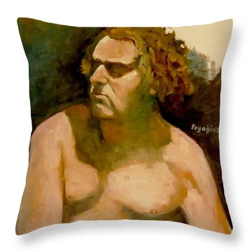 Mike. Throw Pillow