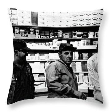 Mikes Corner Store Throw Pillow