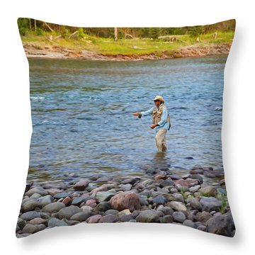 Mike's River-1 Throw Pillow