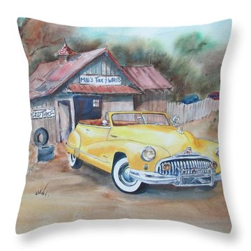 Mikes Tires Throw Pillow