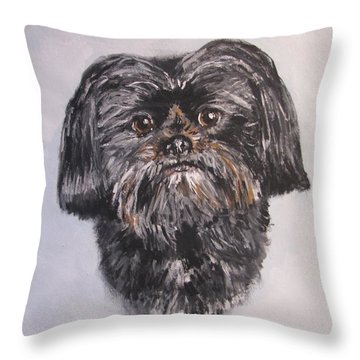 Throw Pillow featuring the painting Mikey by Jack Skinner