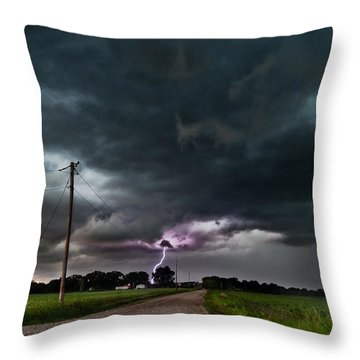 Mikey's Lightning  Throw Pillow