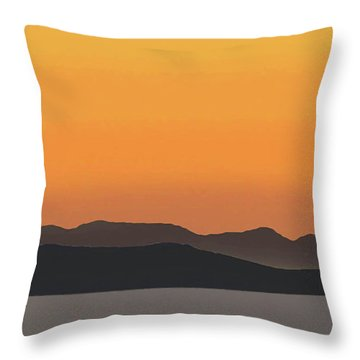 Mykonos Sunset Throw Pillow