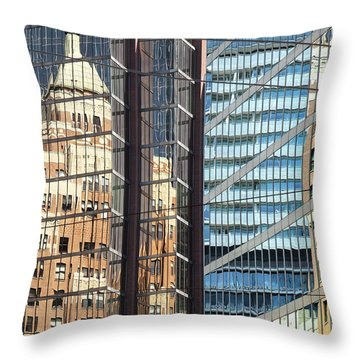 Throw Pillow featuring the photograph Miksang 10 Reflect by Theresa Tahara