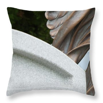 Throw Pillow featuring the photograph Miksang 6 Angel by Theresa Tahara
