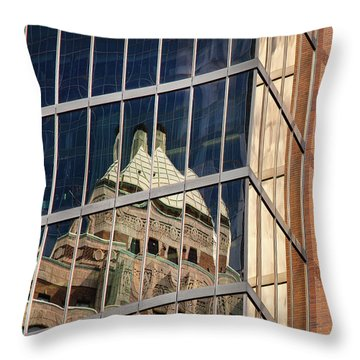 Throw Pillow featuring the photograph Miksang 9 City by Theresa Tahara
