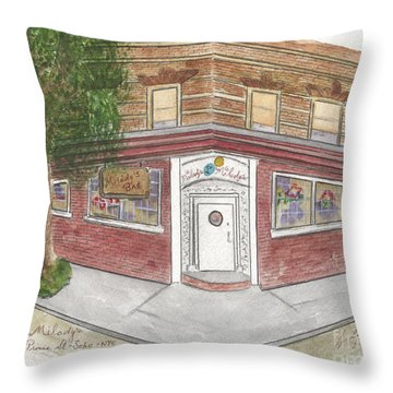 Milady's Bar In Soho Throw Pillow