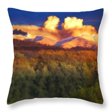 Milagro Cloud Theater Over Truchas Peaks Nm Throw Pillow