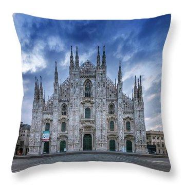Milan Cathedral Santa Maria Nascente Throw Pillow