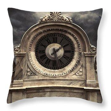 Milan Clock Throw Pillow