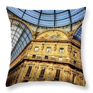 Milan Galleria Vittorio Emanuele II  Throw Pillow