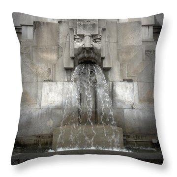 Milan Train Station Fountain Throw Pillow