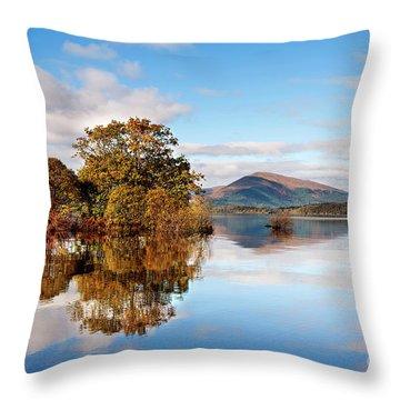 Autumn Reflections Milarrochy Bay Throw Pillow