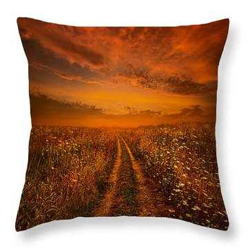 Miles And Miles Away Throw Pillow