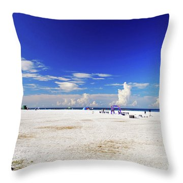 Throw Pillow featuring the photograph Miles And Miles Of White Sand by Gary Wonning
