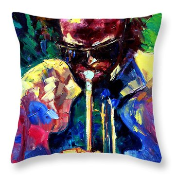 Miles And Yellow Throw Pillow by Debra Hurd