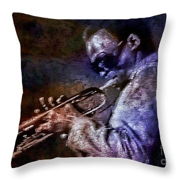 Miles Davis Jazz Legend 1969 Throw Pillow