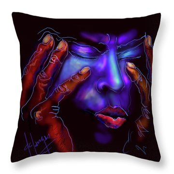 Throw Pillow featuring the painting Miles by DC Langer