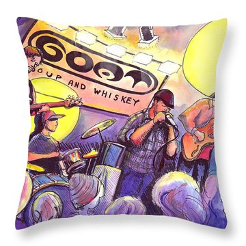Miles Guzman Band Throw Pillow