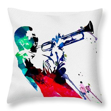 Miles Watercolor Throw Pillow